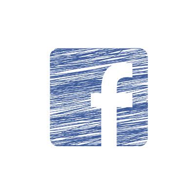 Logo-Facebook au crayon de couleur