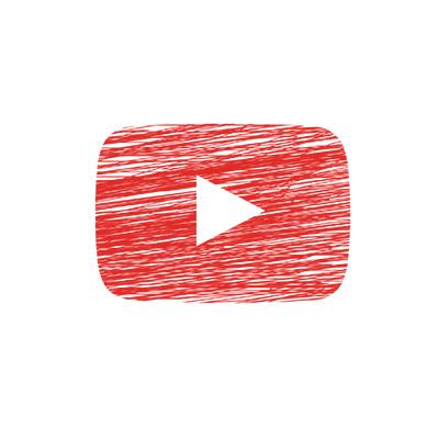 Logo-Youtube au crayon de couleur