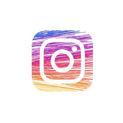 Logo-instagram au crayon de couleur