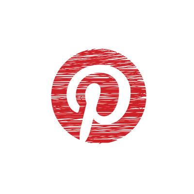 Logo-pinterest au crayon de couleur